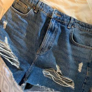 Forever 21 denim shorts high waisted